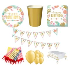 Boho Birthday Girl 8 Person Deluxe Party Pack