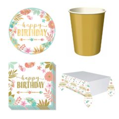 Boho Birthday Girl 8 Person Value Party Pack