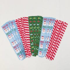 Assorted Christmas Decorative Paper Chain Strips - Pack of 100