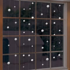 Snowball String Christmas Hanging Decoration 12.8m