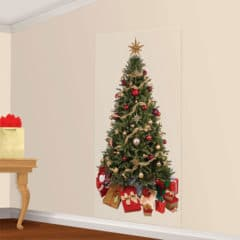 Christmas Tree Scene Setter Add-On Wall Decoration Christmas Backdrop