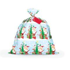 Colourful Santa Christmas Jumbo Plastic Gift Bag 111cm