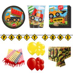 Construction Theme 16 Person Deluxe Party Pack