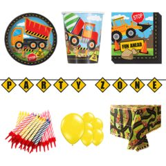 Construction Theme 8 Person Deluxe Party Pack