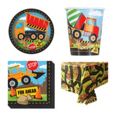 Construction Theme 8 Person Value Party Pack
