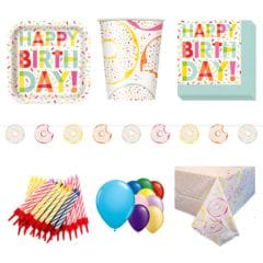 Donut Theme 8 Person Deluxe Party Pack