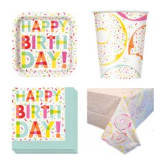 Donut Theme 8 Person Value Party Pack