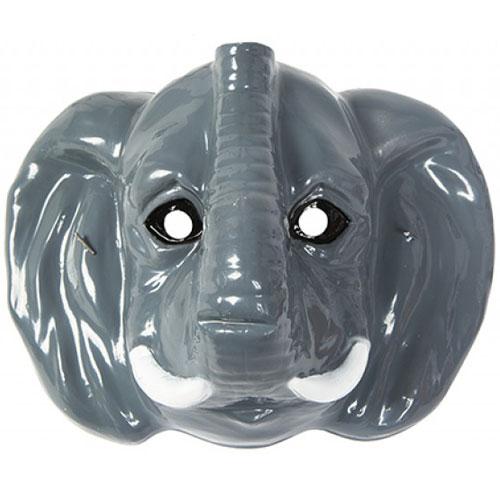Elephant Plastic Face Mask 23cm