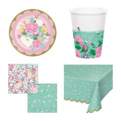 Floral Tea Theme 8 Person Value Party Pack