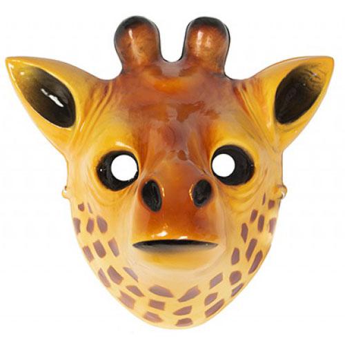 Giraffe Plastic Face Mask 26cm