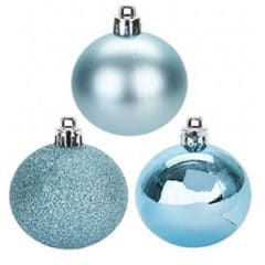 Ice Blue Baubles Christmas Tree Decorations 5cm - Pack of 8