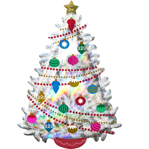 Iridescent Christmas Tree Helium Foil Giant Balloon 91cm / 36 in