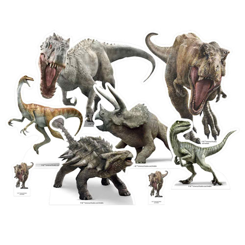 Jurassic World Dinosaur Table Top Cutout Decorations - Pack of 8