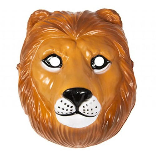 Lion Plastic Face Mask 23cm