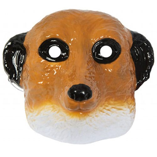 Meerkat Plastic Face Mask 21cm