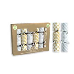 Mini Gold & Silver Christmas Crackers 15cm / 6 in - Pack of 6