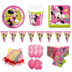 Minnie Mouse Theme 16 Person Deluxe Party Pack
