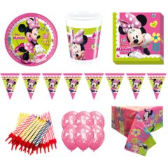 Minnie Mouse Theme 8 Person Deluxe Party Pack