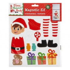 Multi-Section Magnetic Elf Sheet Christmas Decoration