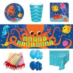 Ocean Celebration Theme 16 Person Deluxe Party Pack