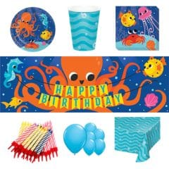 Ocean Celebration Theme 8 Person Deluxe Party Pack