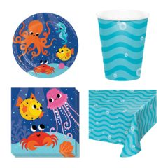Ocean Celebration Theme 8 Person Value Party Pack