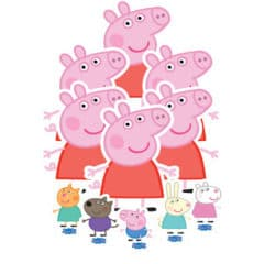 Peppa Pig Table Top Cutout Decorations - Pack of 11