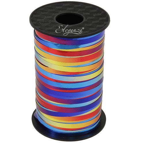 Rainbow Metallic Curling Ribbon 250yds / 228m