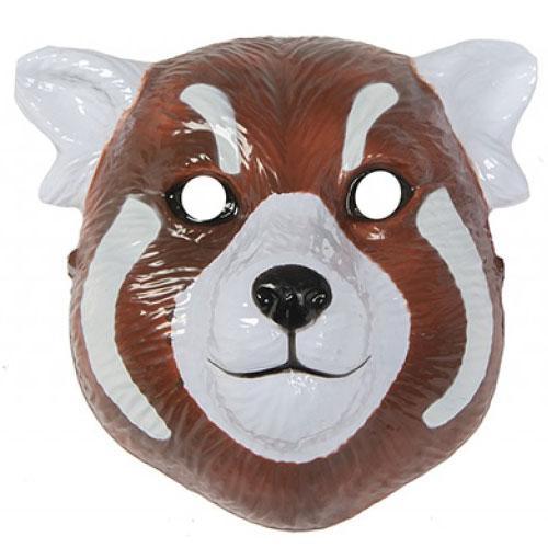 Red Panda Plastic Face Mask 22cm