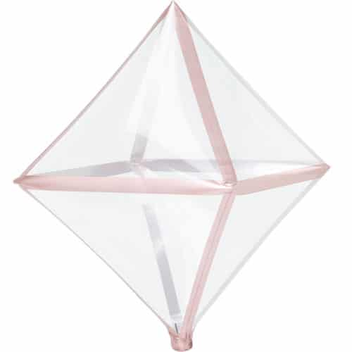 Rose Gold Trim Clear Anglez Foil Helium Balloon 63cm / 25 in