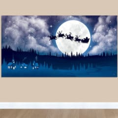 Santa's Sleigh Scene Setter Add-On Wall Decoration Christmas Backdrop