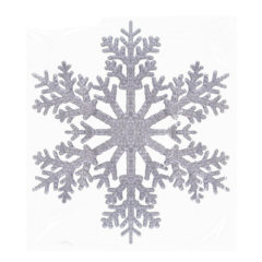 Silver Christmas Glittered Snowflake 30cm