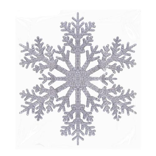Silver Christmas Glittered Snowflake 30cm