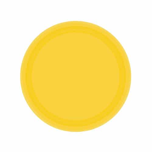 Sunshine Yellow Paper Plates 18cm - Pack of 20