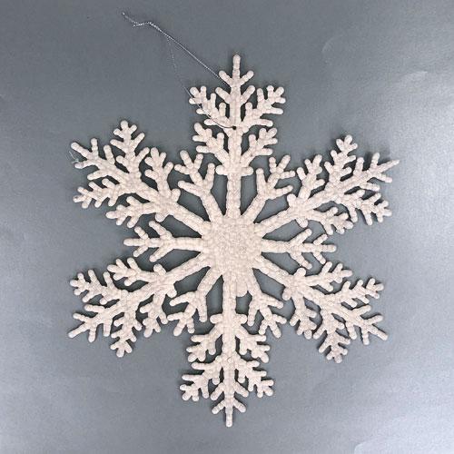 White Christmas Glittered Snowflake 30cm
