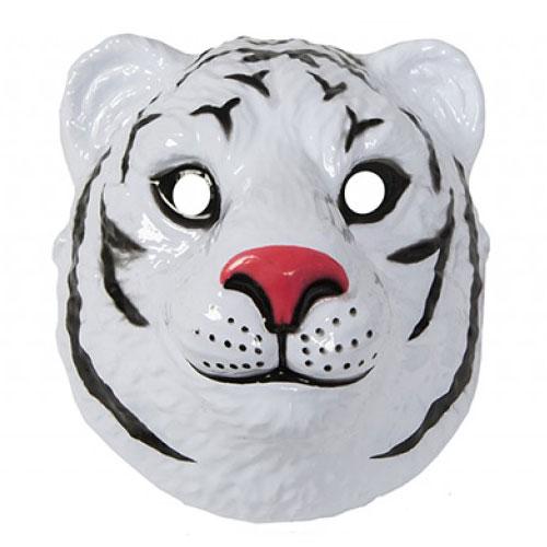 White Tiger Plastic Face Mask 23cm