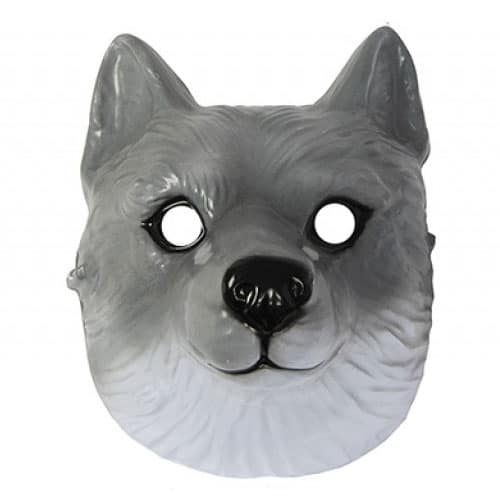 Wolf Plastic Face Mask 22cm