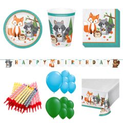 Woodland Animals Theme 16 Person Deluxe Party Pack