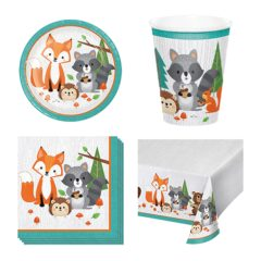 Woodland Animals Theme 8 Person Value Party Pack