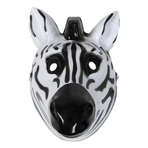 Zebra Plastic Face Mask 26cm