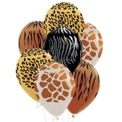 Assorted Animal Print Biodegradable Latex Balloons 30cm / 12 in - Pack of 25