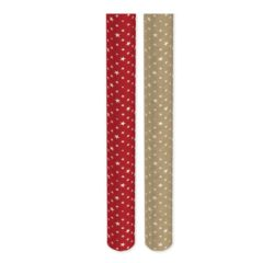 Assorted Kraft Stars Christmas Gift Wrapping Paper 3m - Pack of 2