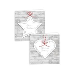 Assorted Snowflakes Metallic Christmas Cards with Envelopes 15cm - Pack of 12