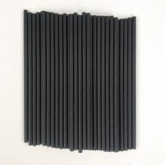 Black Biodegradable Paper Straws - Pack of 50