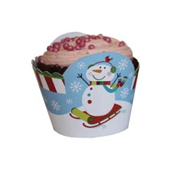 Christmas Cupcake Wrappers - Pack of 12