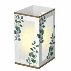 Eucalyptus Green Paper Lantern Centrepiece Decoration 19cm