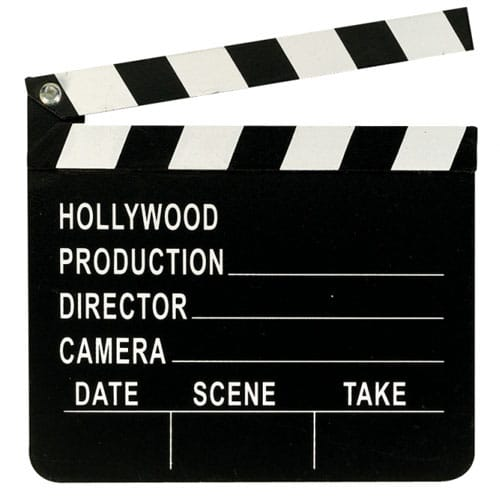 Hollywood Plastic Clapperboard Decoration 20cm