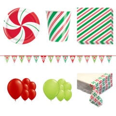 Peppermint Christmas 16 Person Deluxe Party Pack