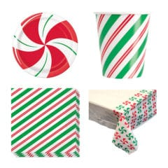Peppermint Christmas 8 Person Value Party Pack