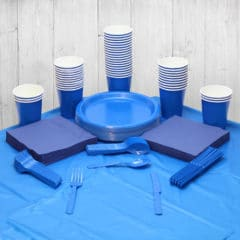 Royal Blue 56 Person Party Pack